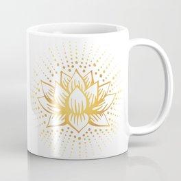 Golden Lotus Mandala Light Coffee Mug