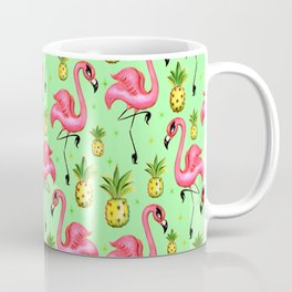 Flamingos with Pineapples Coffee Mug