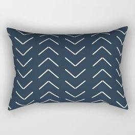 Mudcloth II (Annapolis Blue) Rectangular Pillow