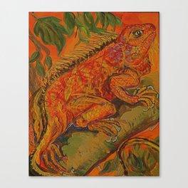 lumious lizard Canvas Print
