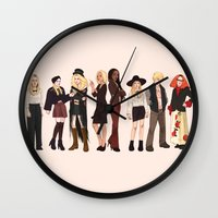 coven Wall Clocks featuring Witches by Mannequin