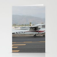 plane Stationery Cards featuring plane by Amanda Lee Design