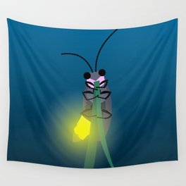 Aglow: big dipper firefly Wall Tapestry