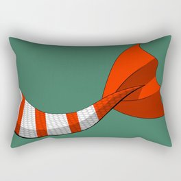 Candy Cane Mermaid Tail V2 #Christmas #Holiday Rectangular Pillow