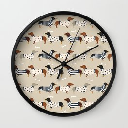Dachshund doxie sweaters cute dog gifts dog breed dachsie owners must haves Wall Clock