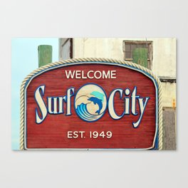 Welcome To Surf City Canvas Print