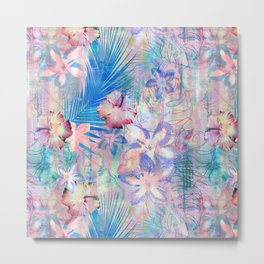Haleiwa Tropical Pink Metal Print