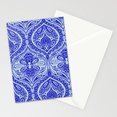 Simple Ogee Blue Stationery Cards