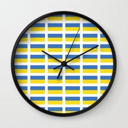 Flag of Ukraine -Ukrainian,Україна, Ucrania,kiev,sevastopol Wall Clock