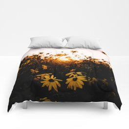 California Sunshine and Flowers Comforters