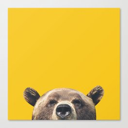 Bear - Yellow Canvas Print