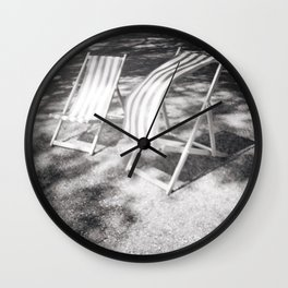 Deckchairs in the Breeze Wall Clock