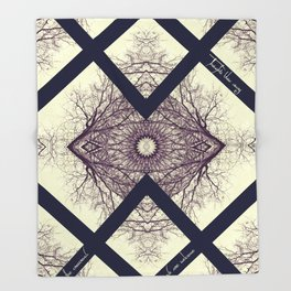 THE CONVERGENCE POINT Throw Blanket