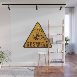 Roswell road sign Wall Mural