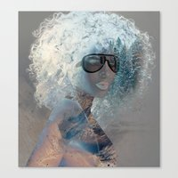 afro Canvas Prints featuring Afro  by Vin Zzep