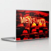 hats Laptop & iPad Skins featuring Men's Hats by Wanker & Wanker