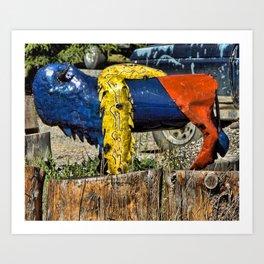 Blue Bison Art Print