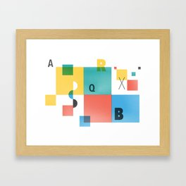 Composition 1 Framed Art Print