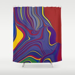 CRAY - vivid rich jewel primary color block design Shower Curtain