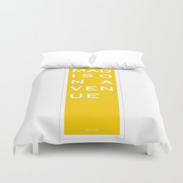 Madison Avenue - NYC - Yellow Duvet Cover