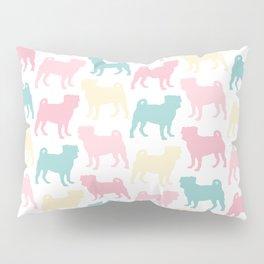 Pastel Pugs Pattern Pillow Sham