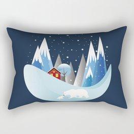 Snowing Bubble Rectangular Pillow