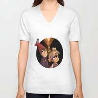 over the garden wall V-neck T-shirts featuring Over the Garden Wall by stubbornpotato