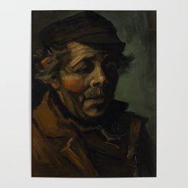 Vincent Van Gogh Head Of A Peasant Poster