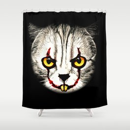 cat clown kittywise no text vector art Shower Curtain