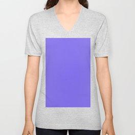 color medium slate blue Unisex V-Neck