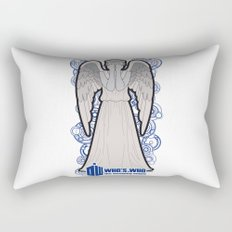 Doctor Who: Who's Who, the weeping angel Rectangular Pillow