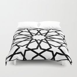 Islamic Geometric Line Art Duvet Cover