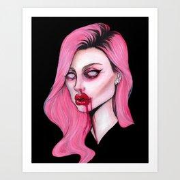 Die In Pink Art Print