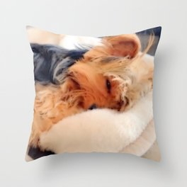 Sweet Dreams Little Yorkie | Nadia Bonello Throw Pillow