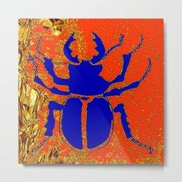 Blue Staghorn Beetle Metal Print