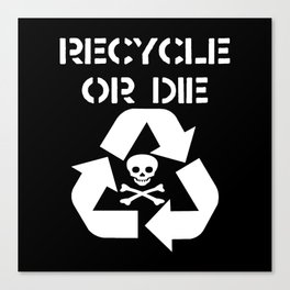 Recycle White Canvas Print