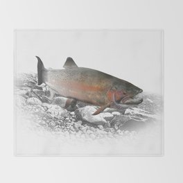 Migrating Steelhead Trout Throw Blanket