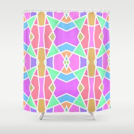 SWEET RETRO GEOMETRY Shower Curtain
