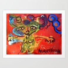 Orange Fig Art Print
