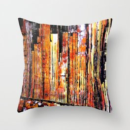 Golden town Throw Pillow