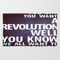 revolution Area & Throw Rugs featuring Revolution  by Emily Lomax