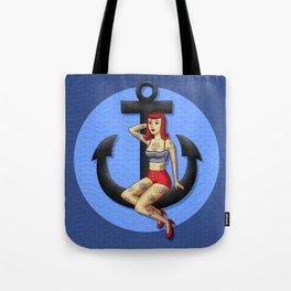 Anchor Girl Tote Bag