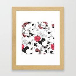 Floral Pattrn Framed Art Print