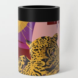 The Big Eye Leopard abstract Can Cooler