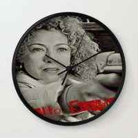 river song Wall Clocks featuring River Song; Hello Sweetie. by Art Corner