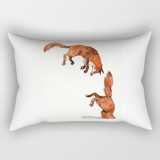 Jumping Red Fox Rectangular Pillow