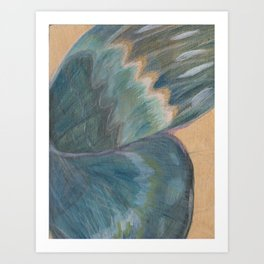 Butterfly Wing On Wood Art Print