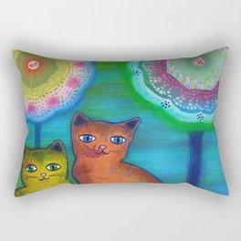 Cats and Trees Rectangular Pillow