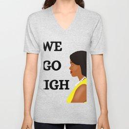 Michelle Obama We Go High Unisex V-Neck
