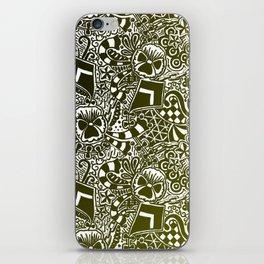 Theta Print-Black & Gold iPhone Skin
